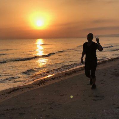 träningsresa stranden