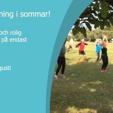 Kostnadsfri utomhusträning i sommar!